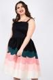 Vixen Curve Sally Scallop Border Print Dress
