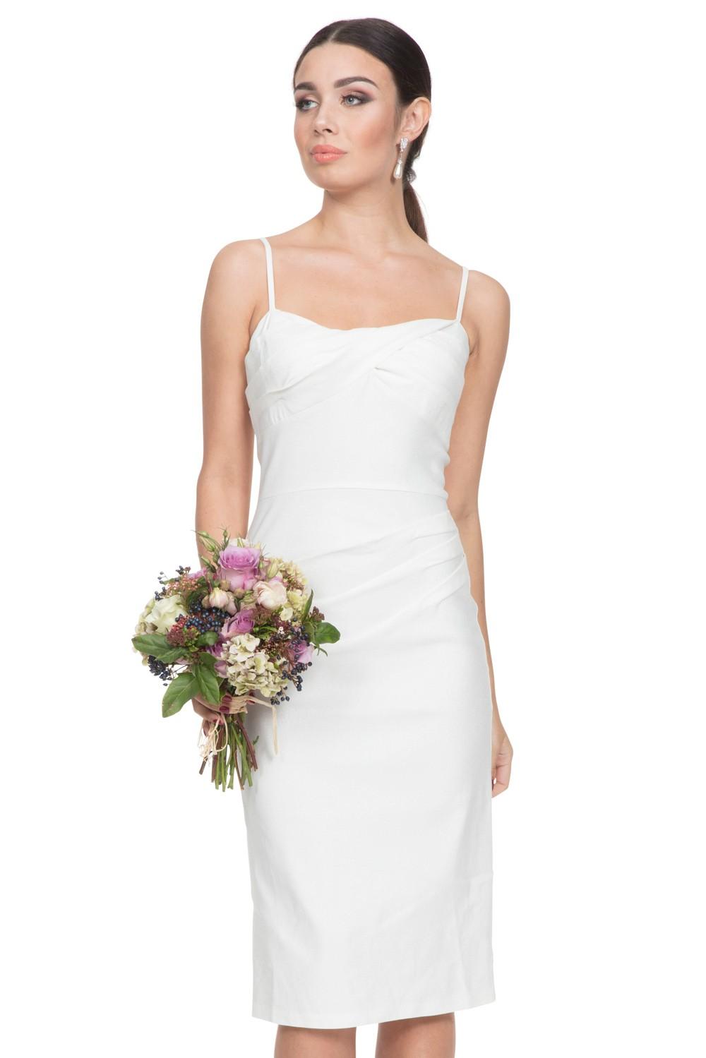 Davina White Wiggle Dress | Vintage Inspired Womens Clothing