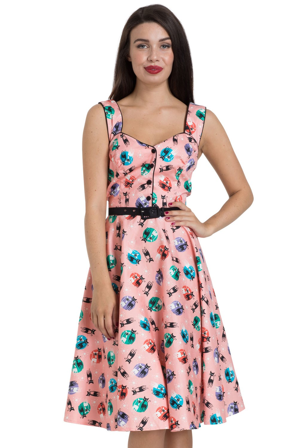 Kitty 50\'S Flared Dress | Vintage Inspired Fashion & Accessories