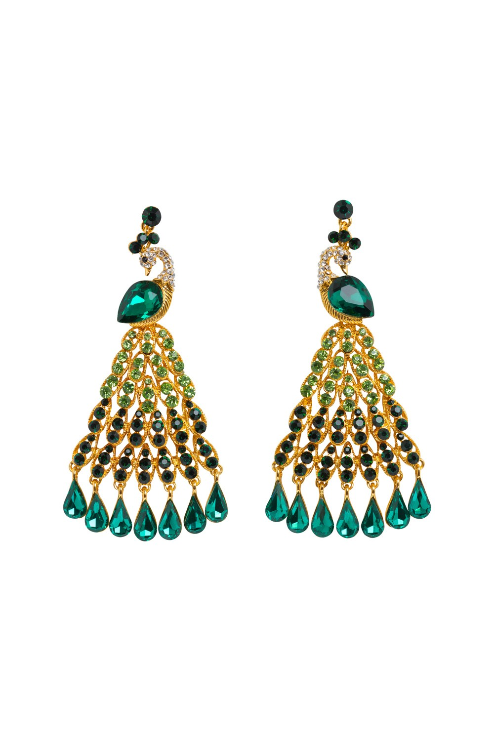Peacock chandelier earrings mozeypictures Image collections