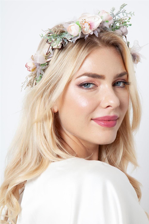 Botanical floral hair crown vintage inspired fashion accessories botanical floral hair crown izmirmasajfo