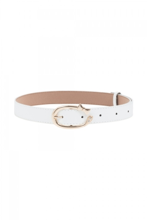 Gold Bow Belt White