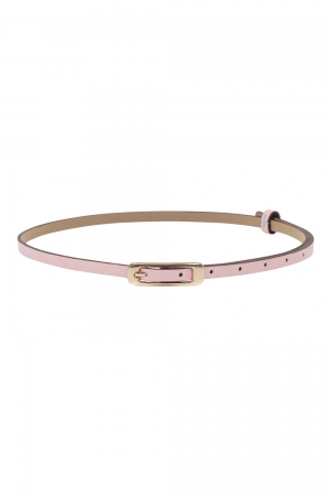 Slim Belt With Gold Buckle Pink