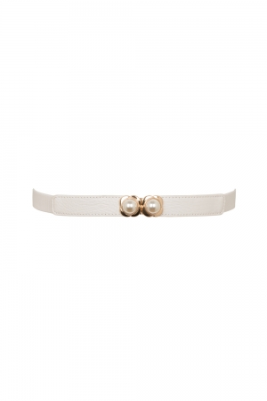 Decorative Pearl Belt Grey