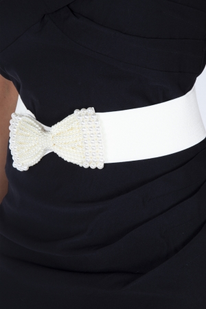 Pearly Queen Bow Waist Belt