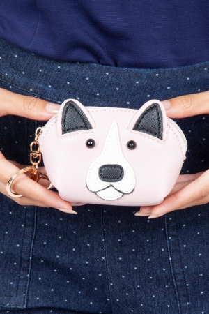 Hector Dog Coin Purse in Pink