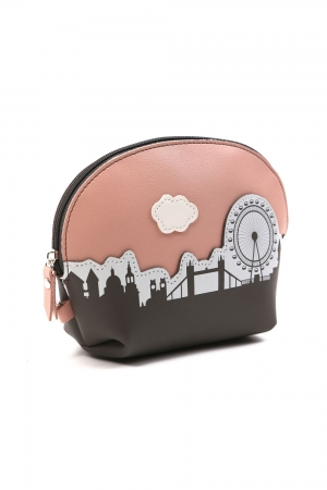 I Love London Pink Make Up Bag