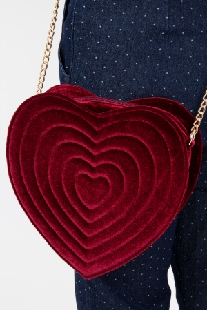 Red Velvet Heart Bag
