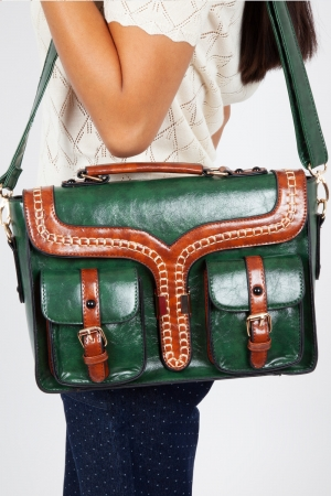 Freya Satchel in Green