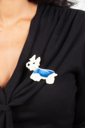 Hamish Scotty Dog Resin Brooch