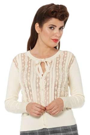Iris Cream Floral Lace Cardigan