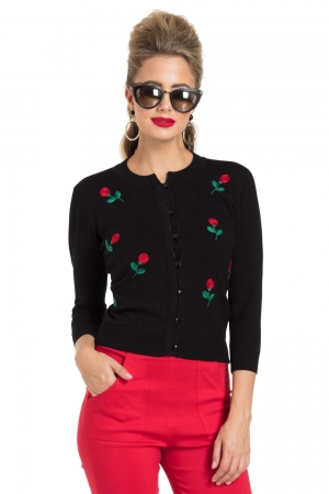 Rose Applique Cardigan
