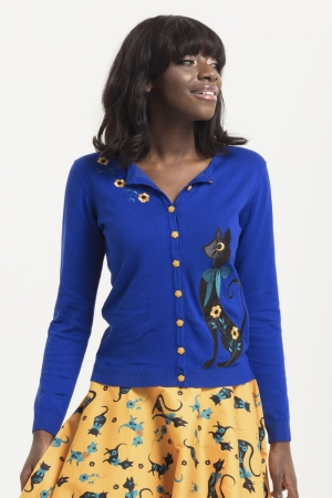Annabelle Blue Cat Cardigan