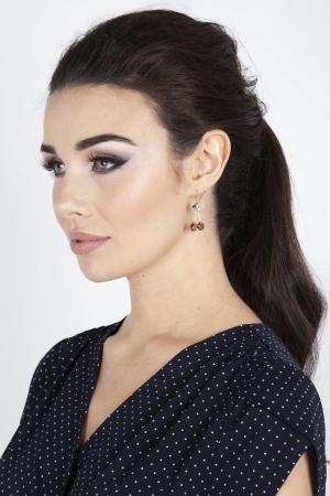 Delicate Cherry Gem Earrings