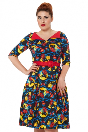 Prairie 50s Retro Cat Dress
