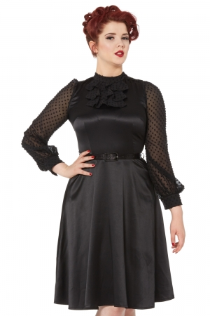 Audrey Flared Little Black Dress