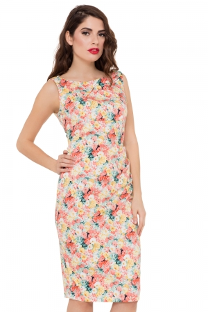 Anastasia Floral Wiggle Dress