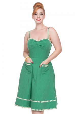 Deliliah Green Flared Dress