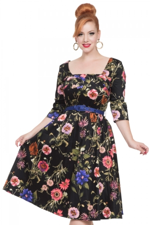Allie Dark Floral Dress
