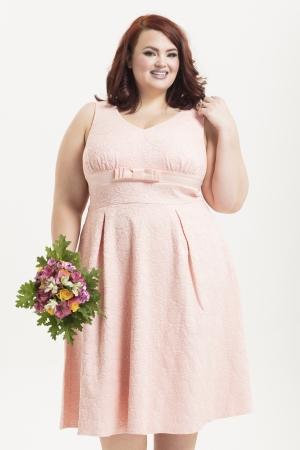 Lauren Peach Plus Size Bridal Dress