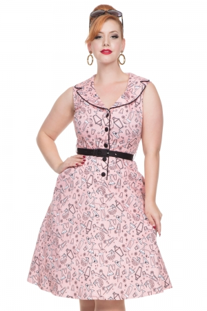 May Belle Pink Cocktail Dress