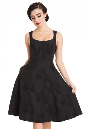 Tiffany Black Flared Dress