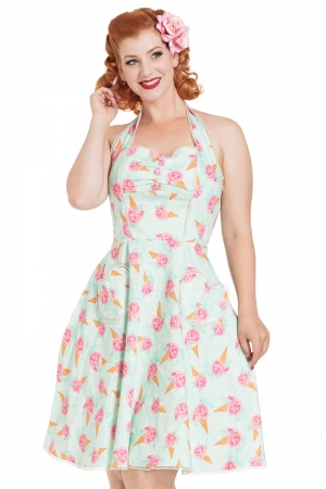Abigail Ice Cream Halter Dress