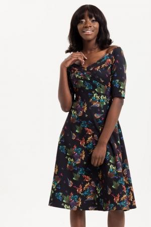 Grace Flared Bardot Dress