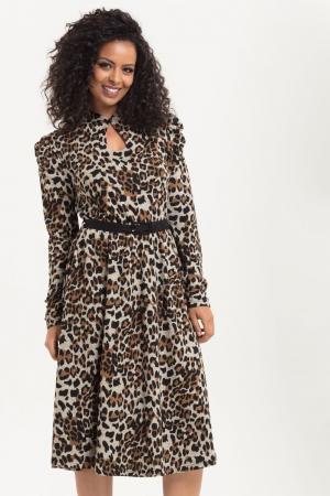 Dita Leopard Print Dress