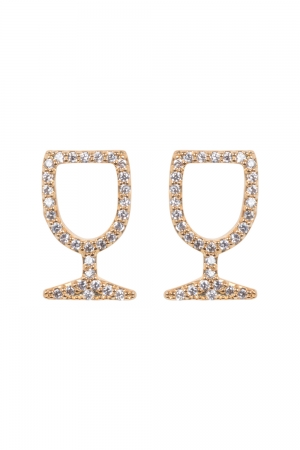 Wine Glass Studs