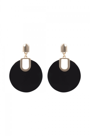 Retro Disk Earrings