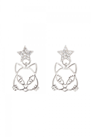 Star Kitty earrings