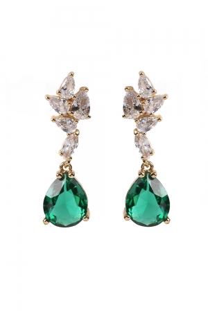 Elegant Emerald Earrings
