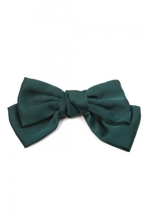 Sandy Satin Green Hair Bow