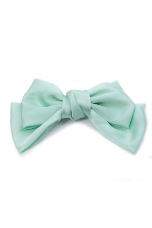 Sandy Satin Mint Hair Bow