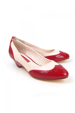 Ida Red Low Heel Pumps by B.A.I.T