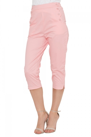 Becky Pink High Waist Trousers