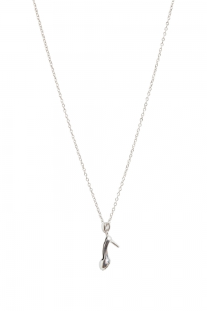 If The Shoe Fits Necklace Silver