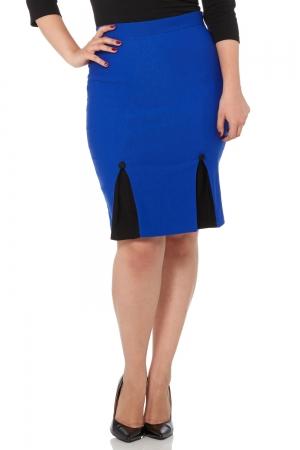 Annaliese Blue Wiggle Skirt