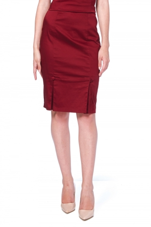 Sandy Burgundy Pencil Skirt