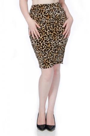 Verity Leopard Wiggle Skirt