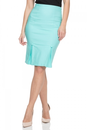 Nicole Green Pencil Skirt
