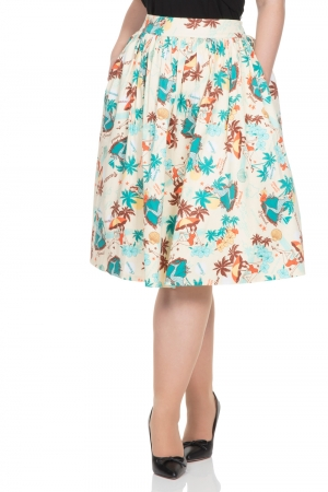 Lena Tropical Print Skirt