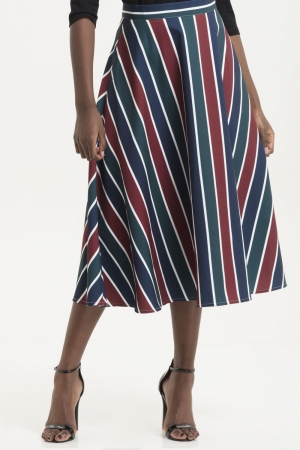 Madelyn Striped Full Circle Skirt