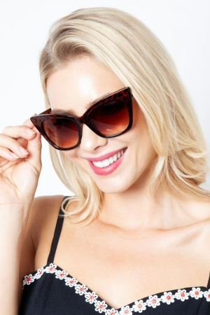 Jennifer Retro Leopard Shades