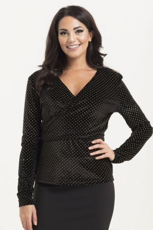 Maria Gold Speckled Sweater