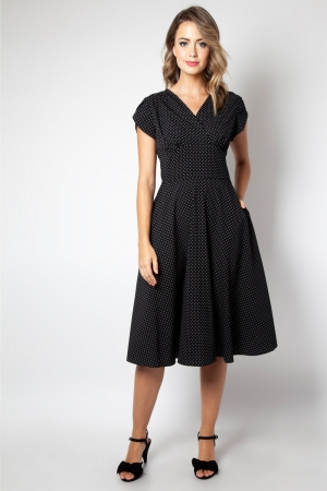 Tabby Black Polka Dot Tea Dress