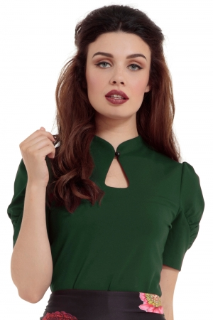 Dita Green Keyhole Cut-out