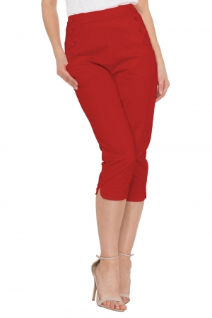 Becky Red High Waist Trousers