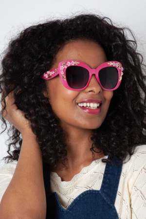 Decorative Pink Floral Glasses